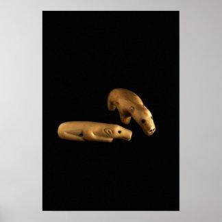 Polara björnar för Inuit, 14th - 15th århundrade Poster