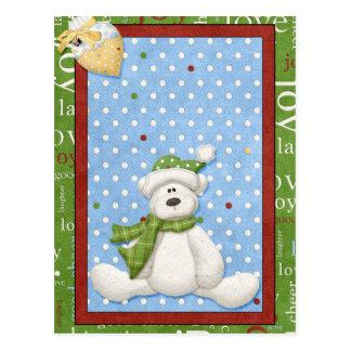 Polara björnjulkort vykort