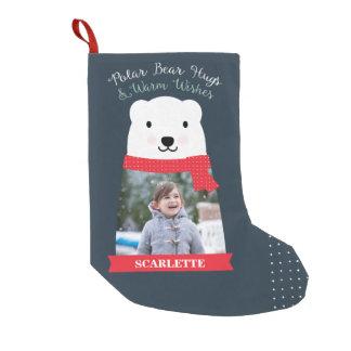 Polara björnkramar och varmt önskemålfoto liten julstrumpa