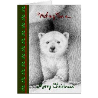 Polart björnungeChrismas kort