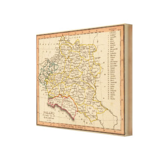 Polen 1772 canvastryck