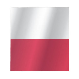 Polen flagga anteckningsblock