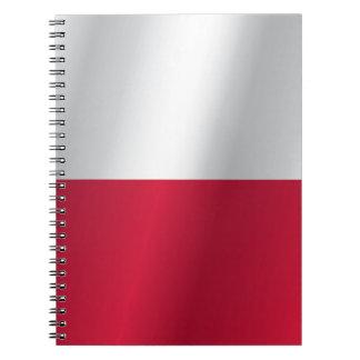 Polen flagga anteckningsbok med spiral