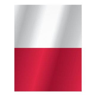 Polen flagga brevhuvud