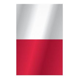 Polen flagga brevpapper