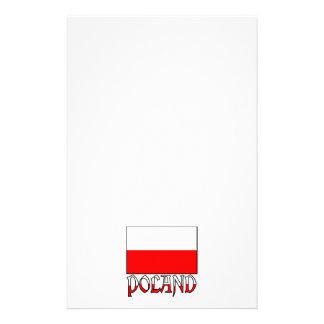 Polen flagga & namn stationär