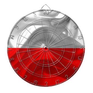 Polen flagga piltavla