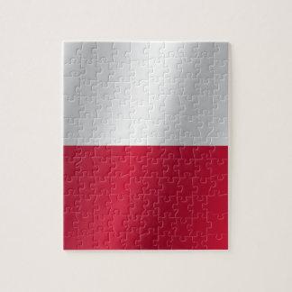 Polen flagga pussel