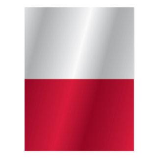 Polen flagga vykort