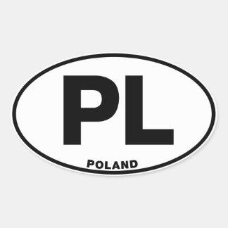 Polen PL kodifierar ovalt legitimationID initialer Ovalt Klistermärke