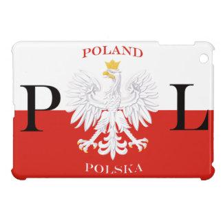 Polen Polska flagga med fodral för kortkort för vi iPad Mini Skal