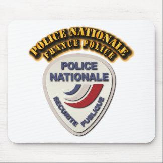 Polis för polisNationale frankriken med text Musmatta