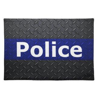 Polisdiamanten pläterar den tunna blålinjen bordstablett