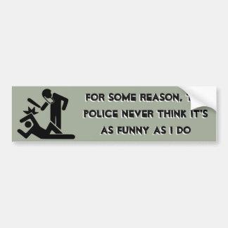 Polisen tänker aldrig att det är så roligt, som bildekal
