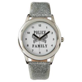 Polisfamiljtatuering Armbandsur