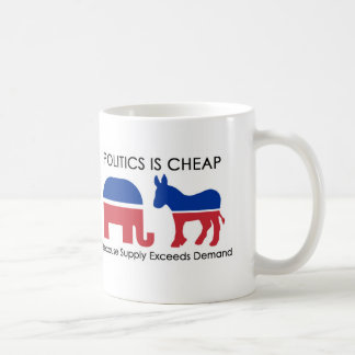 Politik är billig, därför att tillförsel kaffemugg