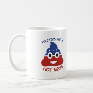 Politik är en hett rörar 2016 - kaffemugg