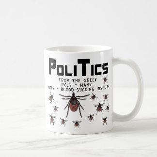 Politik betyder många sugande insekter för blod kaffemugg