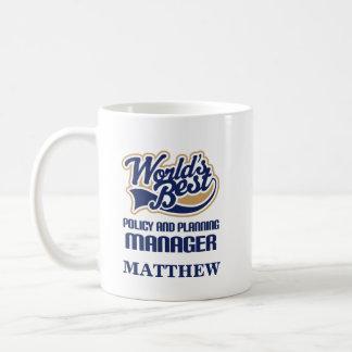 Politik och planera chefpersonlig mugggåvan kaffemugg