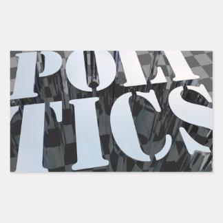 Politik Rektangulärt Klistermärke