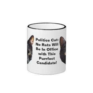 Politikkatten inga ska råttor är i ringer mugg