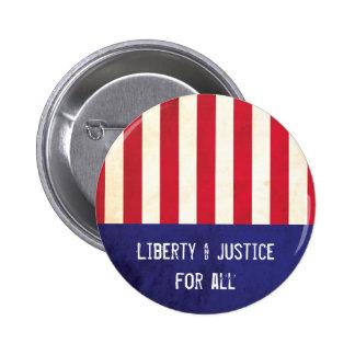 Politisk frihet- & rättvisaamerikanska flaggan standard knapp rund 5.7 cm