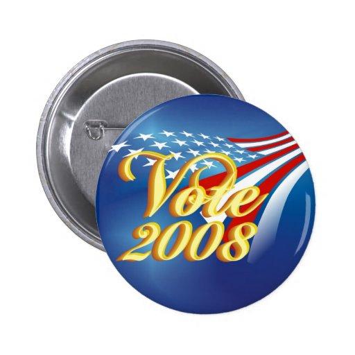 Politisk kampanj knäppas knapp med nål