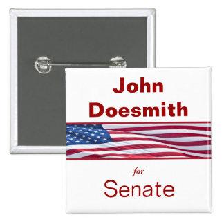 Politisk kampanj knäppas den politiska valändan standard kanpp fyrkantig 5.1 cm