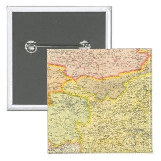 Politisk karta för china standard kanpp fyrkantig 5.1 cm
