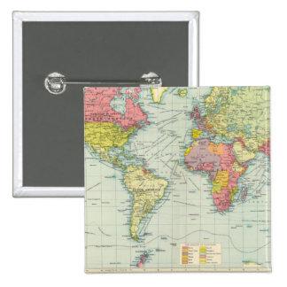 Politisk karta för värld knappar