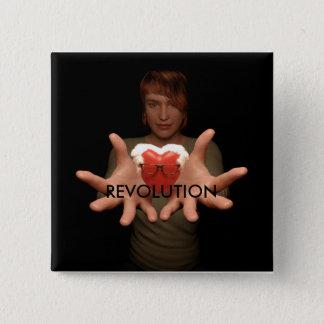 Politisk revolution standard kanpp fyrkantig 5.1 cm