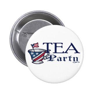 Politisk Teapartyflagga Standard Knapp Rund 5.7 Cm