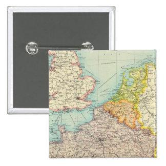 Politiska frankriken, Belgien & Holland Standard Kanpp Fyrkantig 5.1 Cm