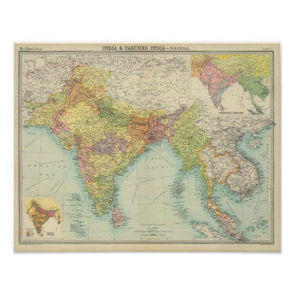 Politiska Indien & mer ytterligare Indien Poster