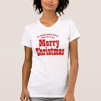 Politiska kristna god julskjortor tee shirts