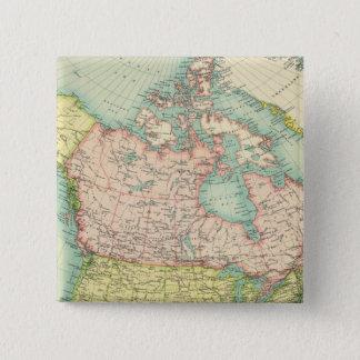 Politiska Nordamerika Standard Kanpp Fyrkantig 5.1 Cm