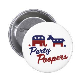 Politiska parodifestsabotörer pins