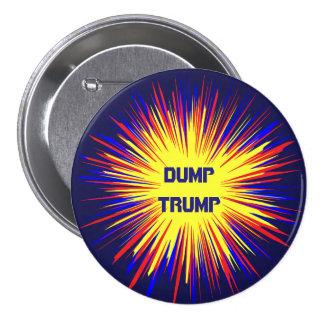 Politiskt dumpa trumfrundan knäppas mellanstor knapp rund 7.6 cm