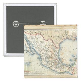 Politiskt kartlägga standard kanpp fyrkantig 5.1 cm