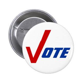Politiskt knäppas denbaksida kampanjen uppmuntrar  knappar med nål