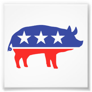 Politiskt partigrismaskot fototryck