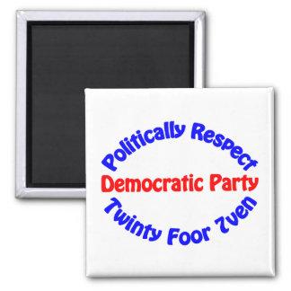 Politiskt respekt - demokratiska partit magnet