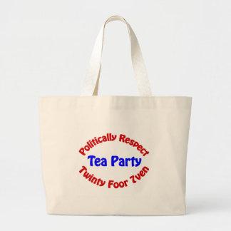 Politiskt respekt - Teaparty Jumbo Tygkasse