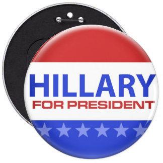 politiskt val - Hillary Clinton Knappar