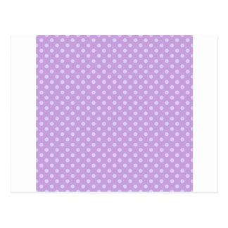 Polka dots - blek lavendel på Wisteria Vykort