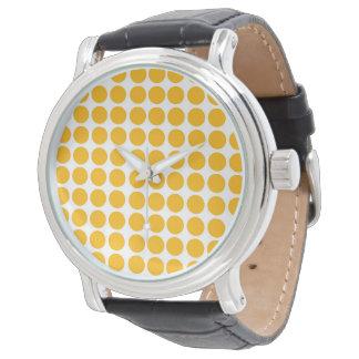 Polka dots cirklar den Polkadot mönstercitronen - Armbandsur