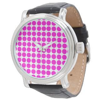 Polka dots cirklar Polkadot mönsterrosor Armbandsur