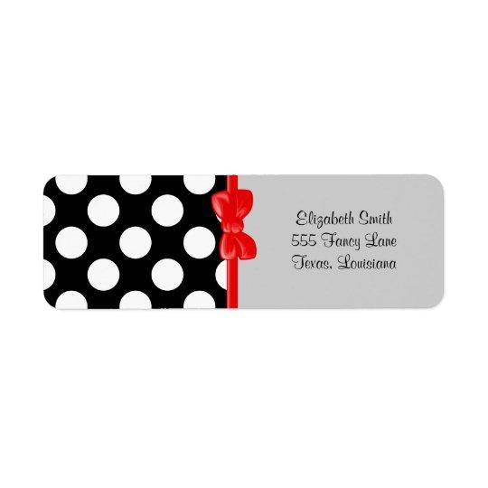 Polka dots fläckar (det prickiga mönster) - returadress etikett