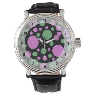 Polka dots för modrosagrönt armbandsur
