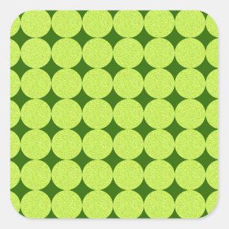 Polka dots och diamanter av Shirley Taylor Fyrkantigt Klistermärke
